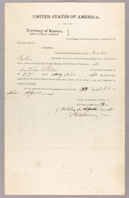 United States versus Martin Taylor for settling on Indian land - Page