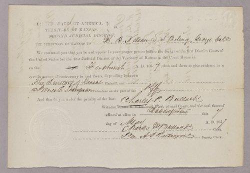 Kansas Territory versus James E. Thompson for gambling - Page
