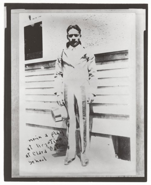 Mexican-American student in a play at Clara Barton School, Argentine, Kansas - Page
