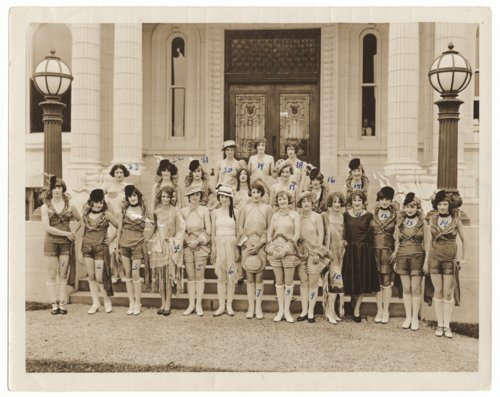 Group of girls posing in dress, Kansas City, Missouri - Page