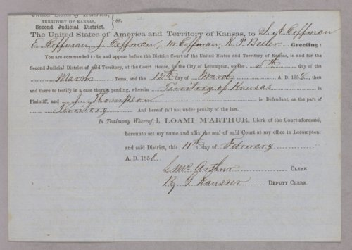 Kansas Territory versus Jay Thompson for assault with intent to kill - Page