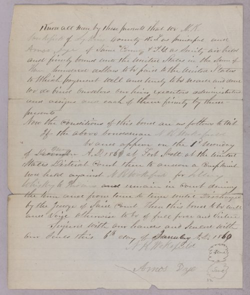 United States versus N. R. Wakefield for selling liquor to Indians - Page