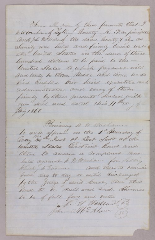 United States versus N. W. Washburn for selling liquor to Indians - Page