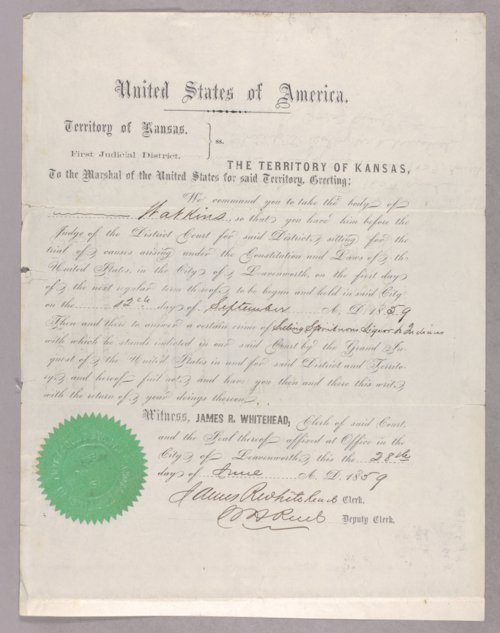 United States versus Watkins for selling liquor to Indians - Page