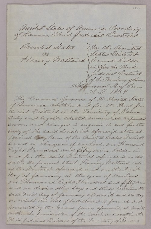United States versus Henry Watland for taking Indian timber - Page