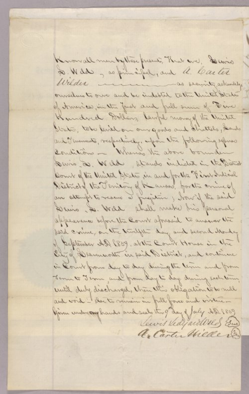 United States versus Lewis L. Weld for attempting to rescue a fugitive - Page