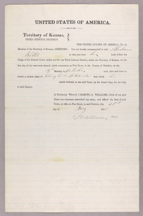 United States versus Abraham Wells for taking Indian timber - Page