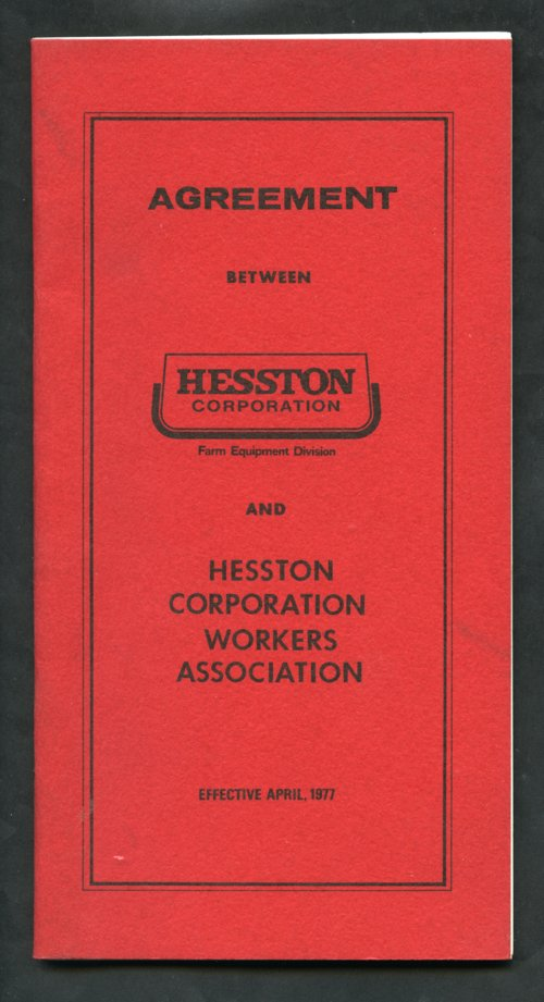 Hesston Corporation and Hesston Corporation Workers Association agreement - Page