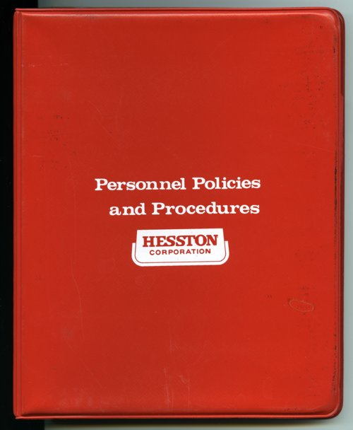 Hesston Corporation policies and procedures binder - Page
