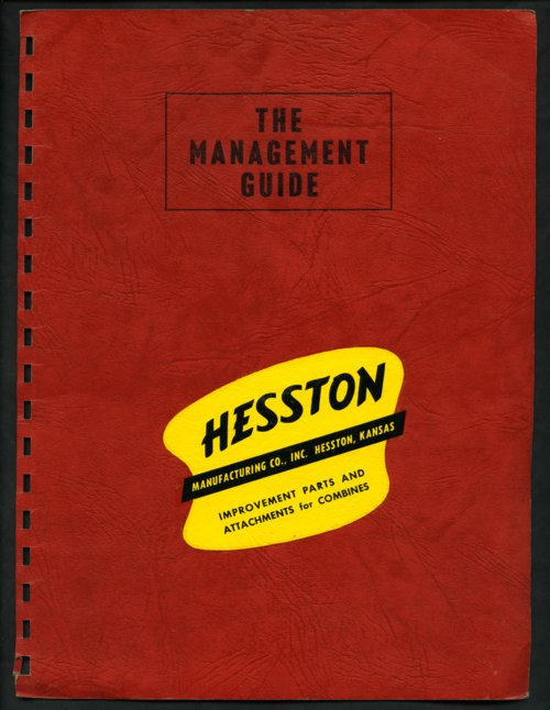 Hesston Manufacturing company handbook - Page