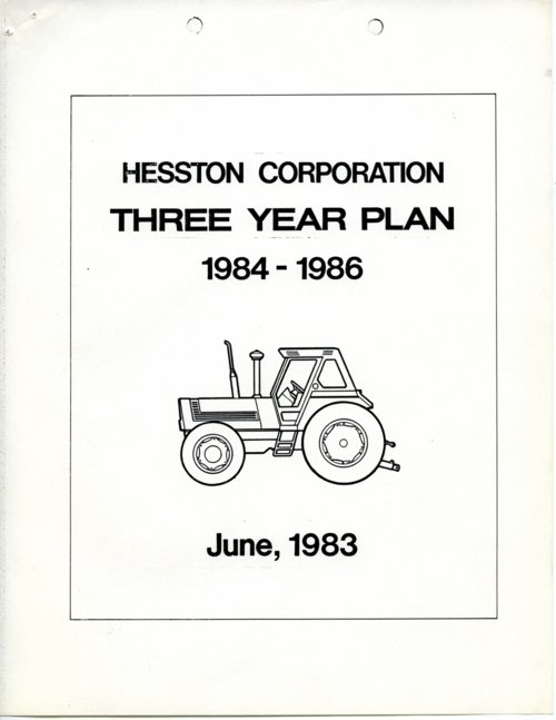 Hesston Corporation business plan - Page
