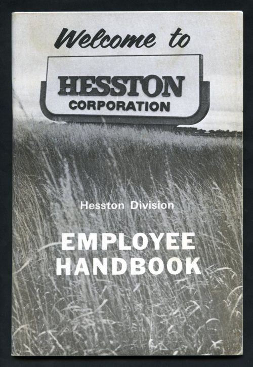 Hesston Division employee handbook, Hesston Corporation, Hesston, Kansas