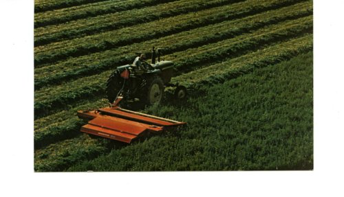 Postcard of Hesston Model PT-10 Pull-Type Windrower - Page