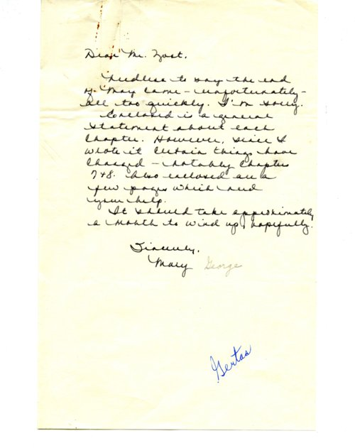Mary George to Lyle Yost - Page