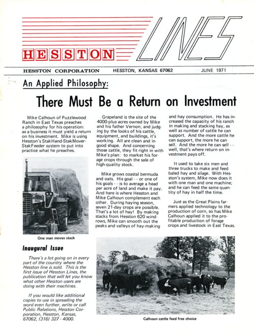 Hesston Lines newsletter - Page