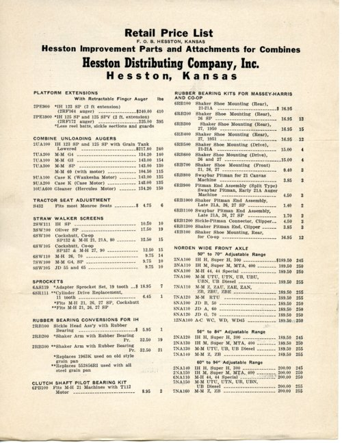 Retail price list - Page