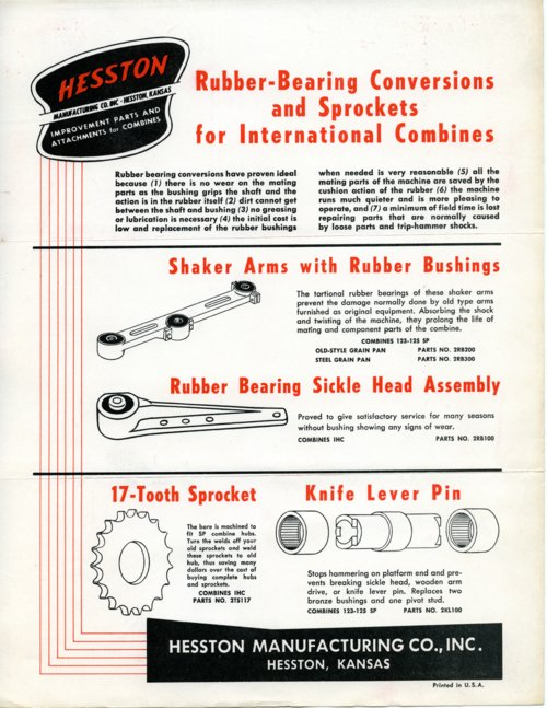 Rubber bearing flyer - Page