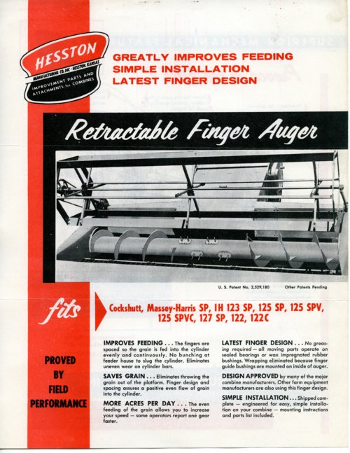 Retractable finger auger flyer - Page