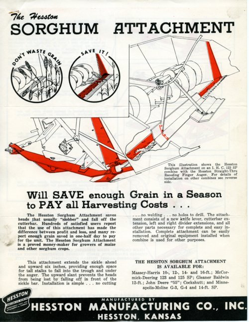 Sorghum attachment flyer - Page