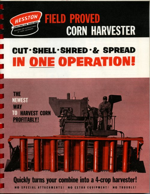 Field proved corn harvester flyer - Page