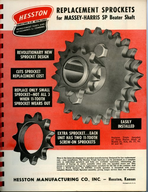 Replacement sprockets flyer - Page