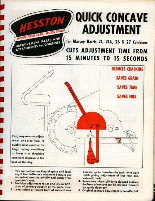 Quick concave adjustment flyer - Page