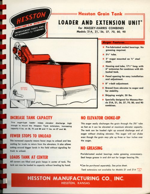 Loader and extension flyer - Page