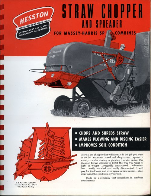 Straw chopper and spreader flyer - Page