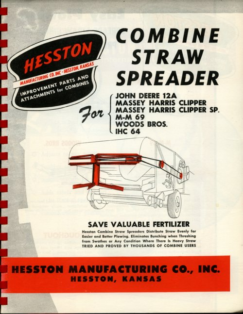 Combine straw spreader flyer - Page