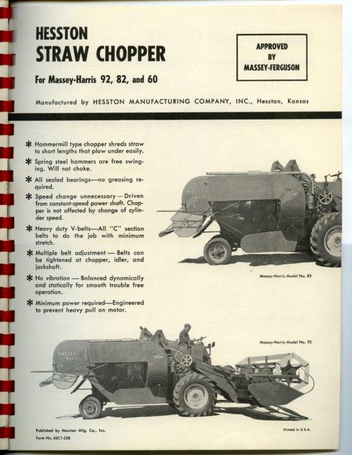 Hesston Straw Chopper flyer - Page