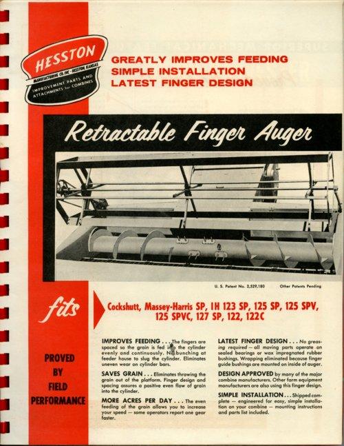 Retractable finger auger flyer - Page