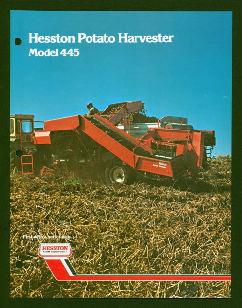 Hesston potato harvester flyer - Page