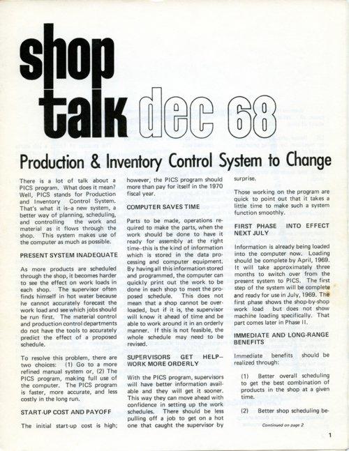 Shop Talk newsletter - Page