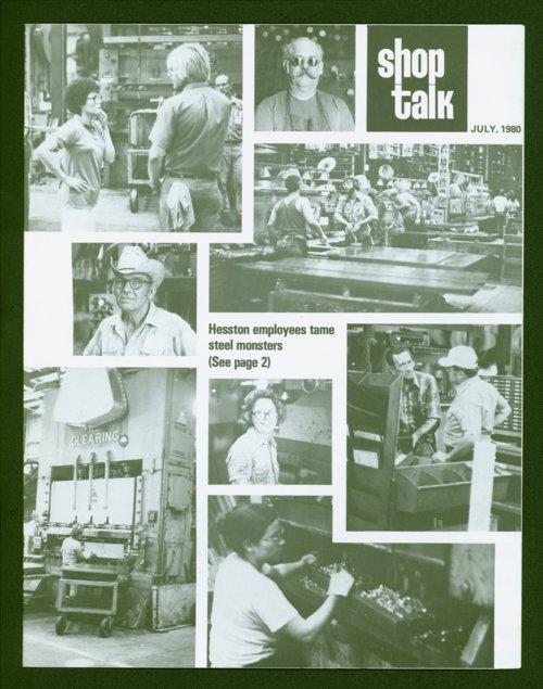 Shop Talk, July 1980, newsletter. - Page