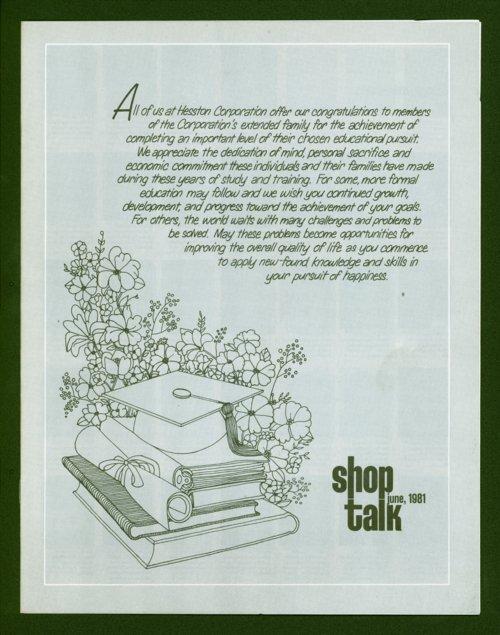 Shop Talk, June 1981, newsletter - Page