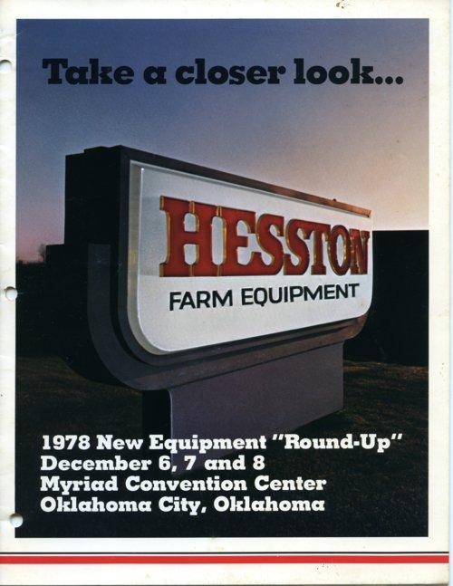 Hesston Corporation convention binder - Page