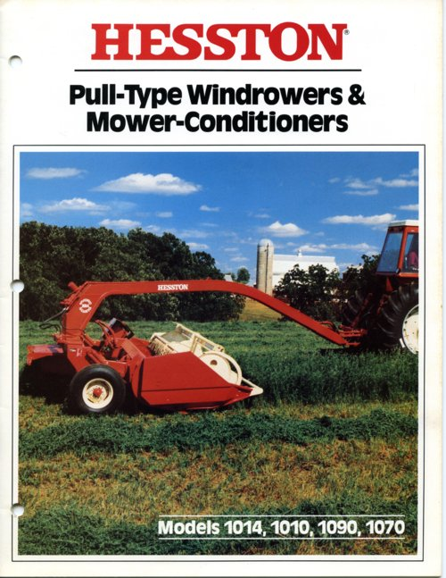 Hesston farm equipment binder - Page