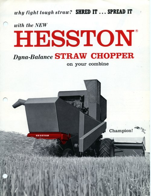 Hesston product flyer - Page