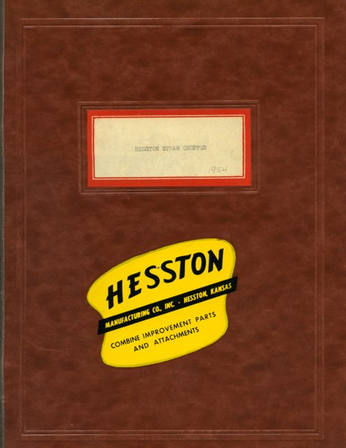 Hesston Straw Chopper booklet - Page