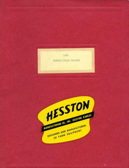 Hesston Straw Chopper booklet - Page