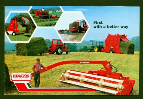 Hesston farm equipment booklet - Page