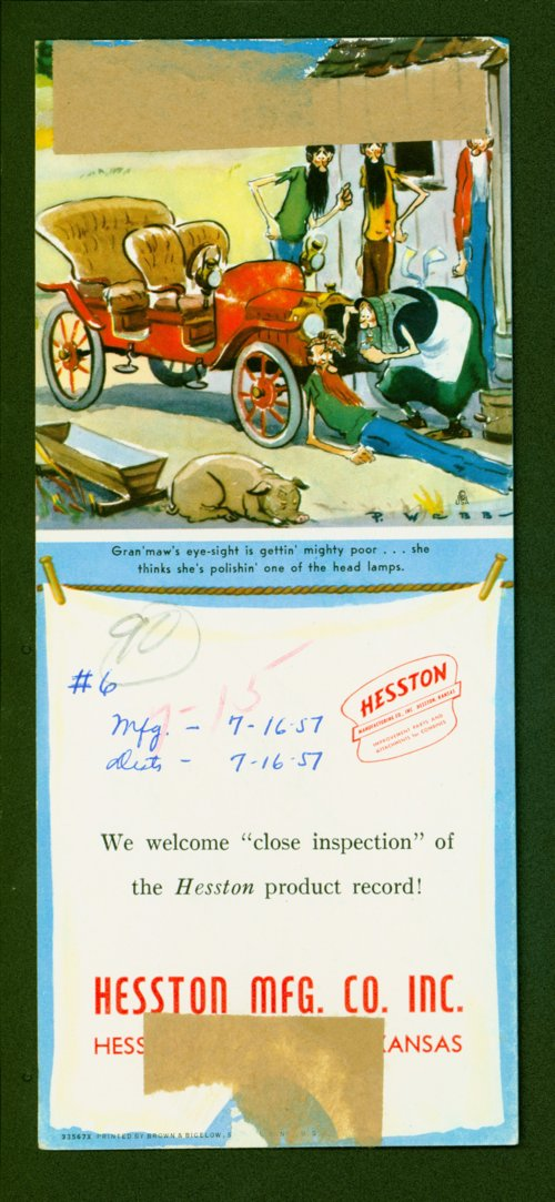 Hesston Manufacturing Company cartoon - Page