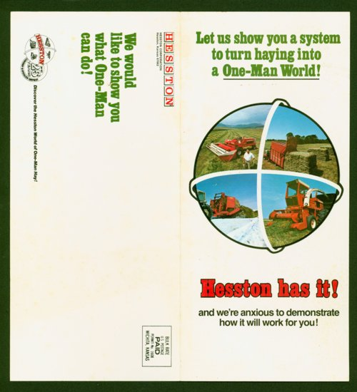 Hesston Corporation mailer - Page
