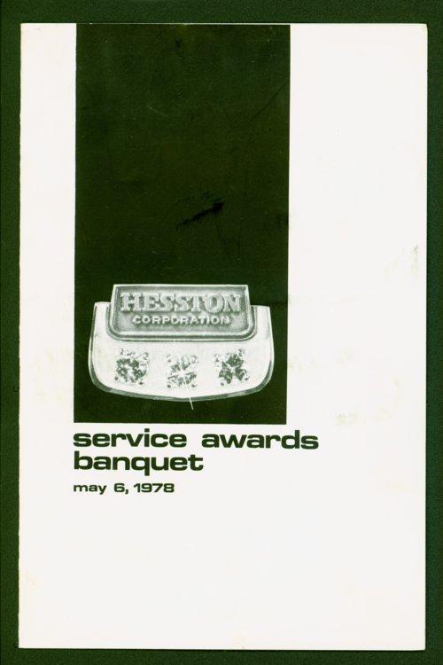 Hesston Corporation event program - Page