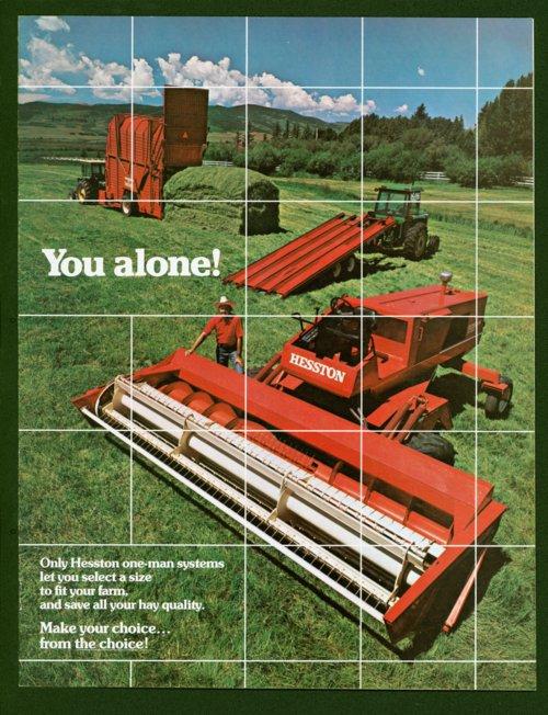 You Alone! Hesston Corporation advertisement, Hesston, Kansas - Page