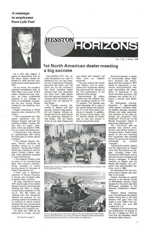 Hesston Horizons magazine - Page