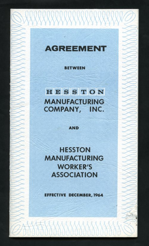 Hesston Manufacturing agreement - Page