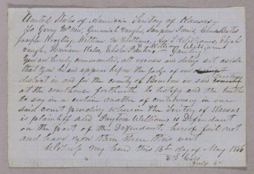 Kansas Territory versus Peyton Williams for murder - Page