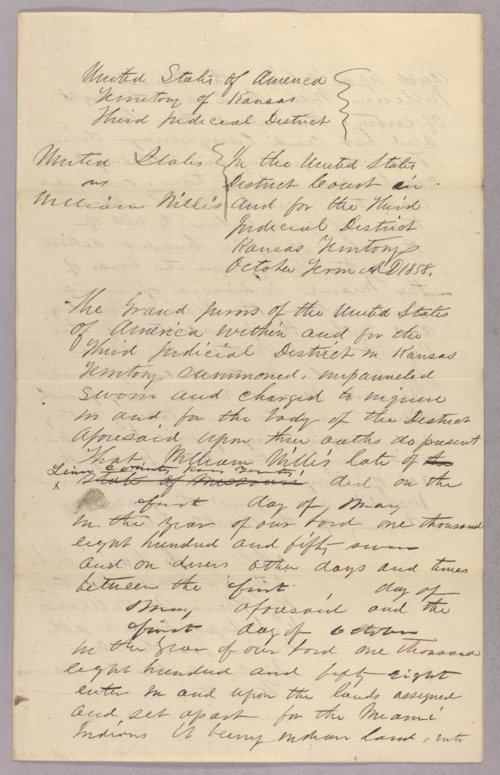 United States versus William Willis for taking Indian timber - Page