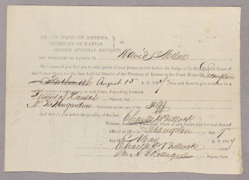 Kansas Territory versus N. K. Winegardner for usurpation of office - Page